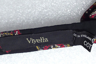 Cotton bow tie Viyella Black Patterned Collar size 13 to 17